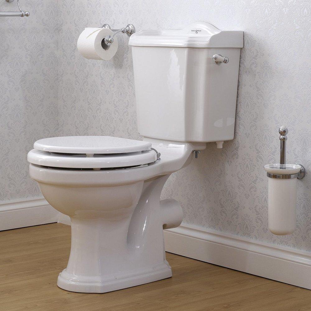 Perrin & Rowe Edwardian Edwardian Duoblok toilet met  hendel