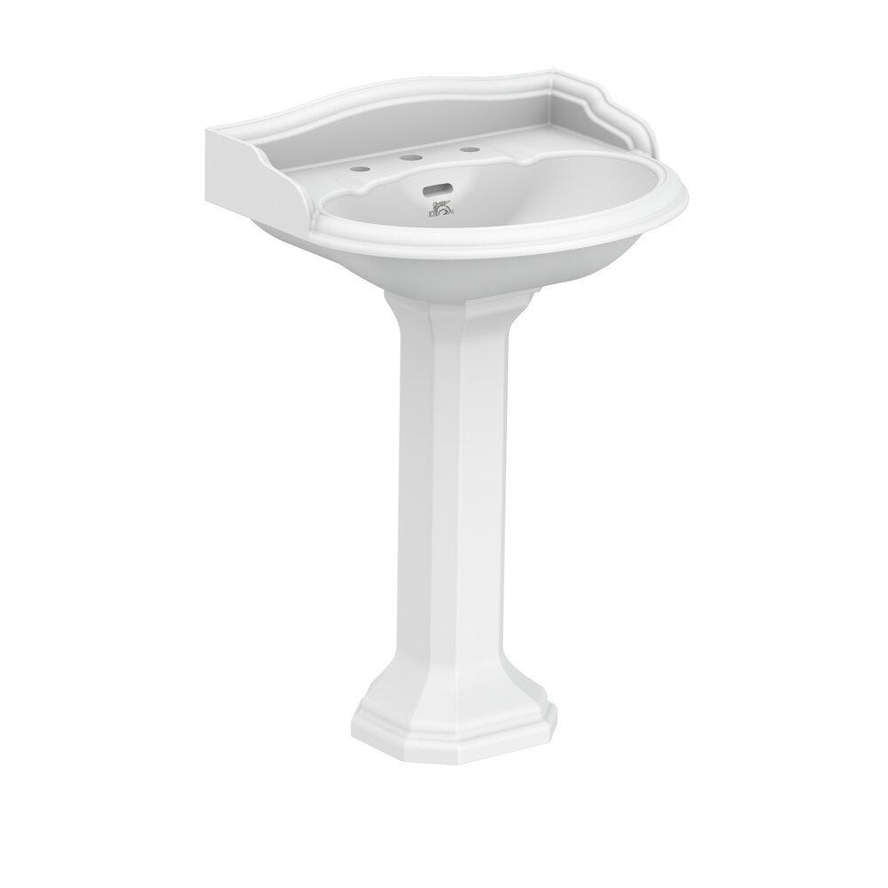 Lefroy Brooks Lissa Doon LB  Lissa Doon 62cm basin with pedestal