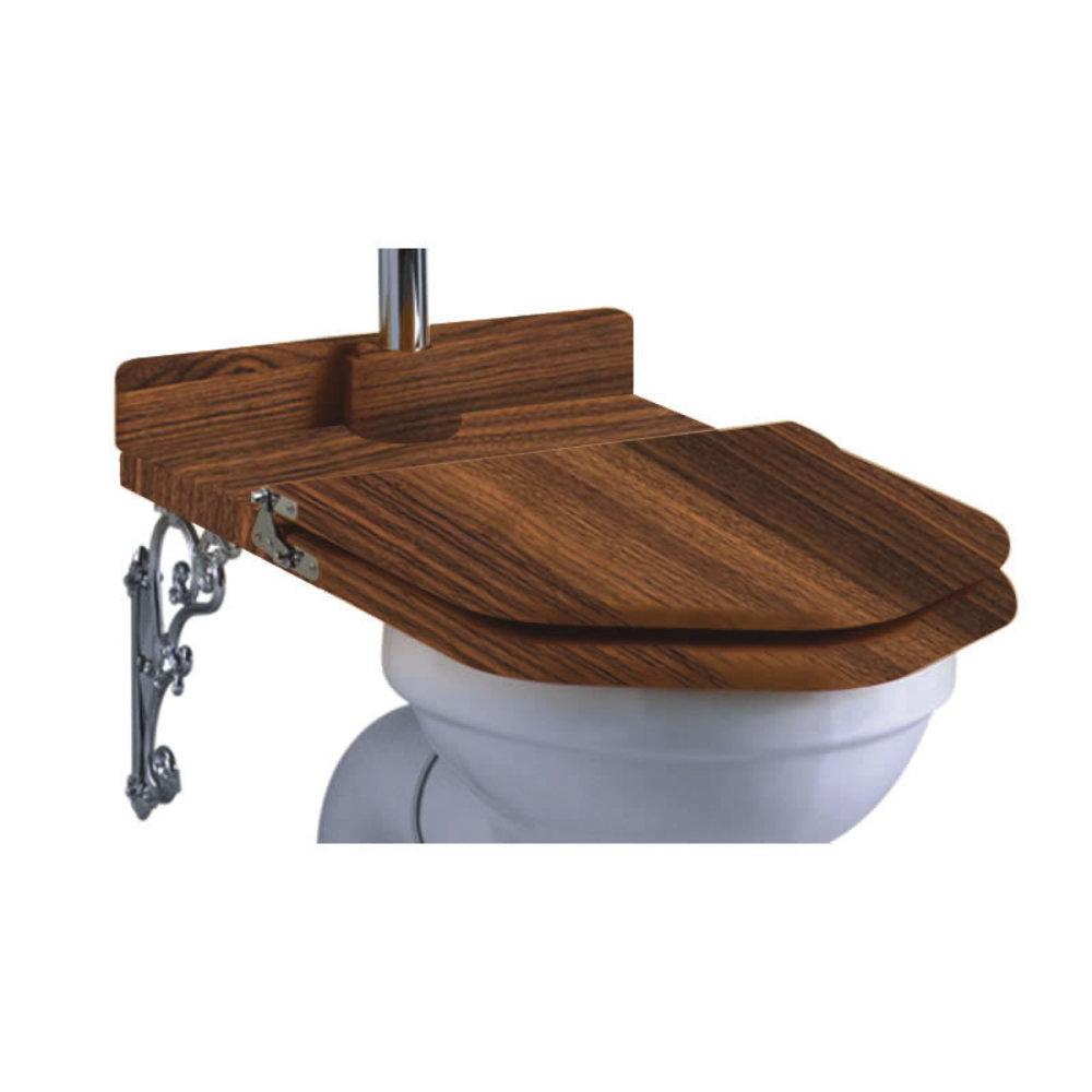 Burlington Throne walnut toilet seat  with brackets