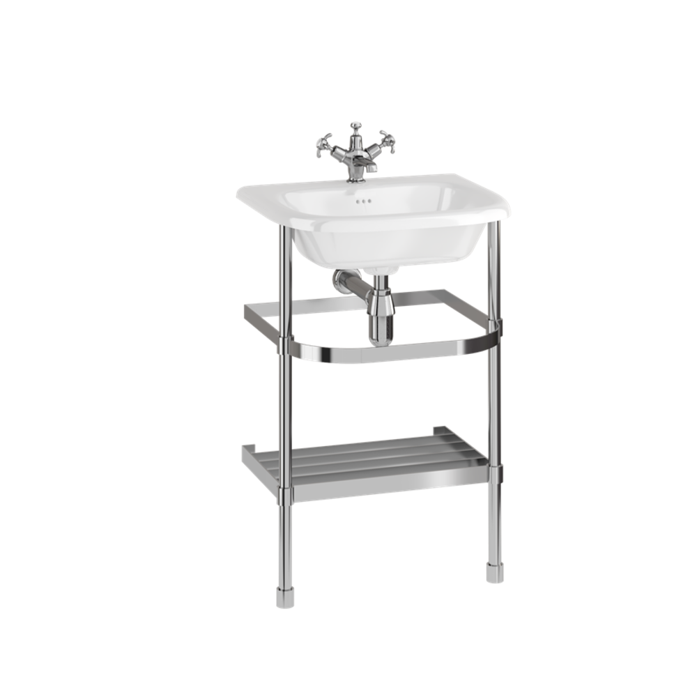 Burlington Traditional small 55cm basin with stainless steel stand