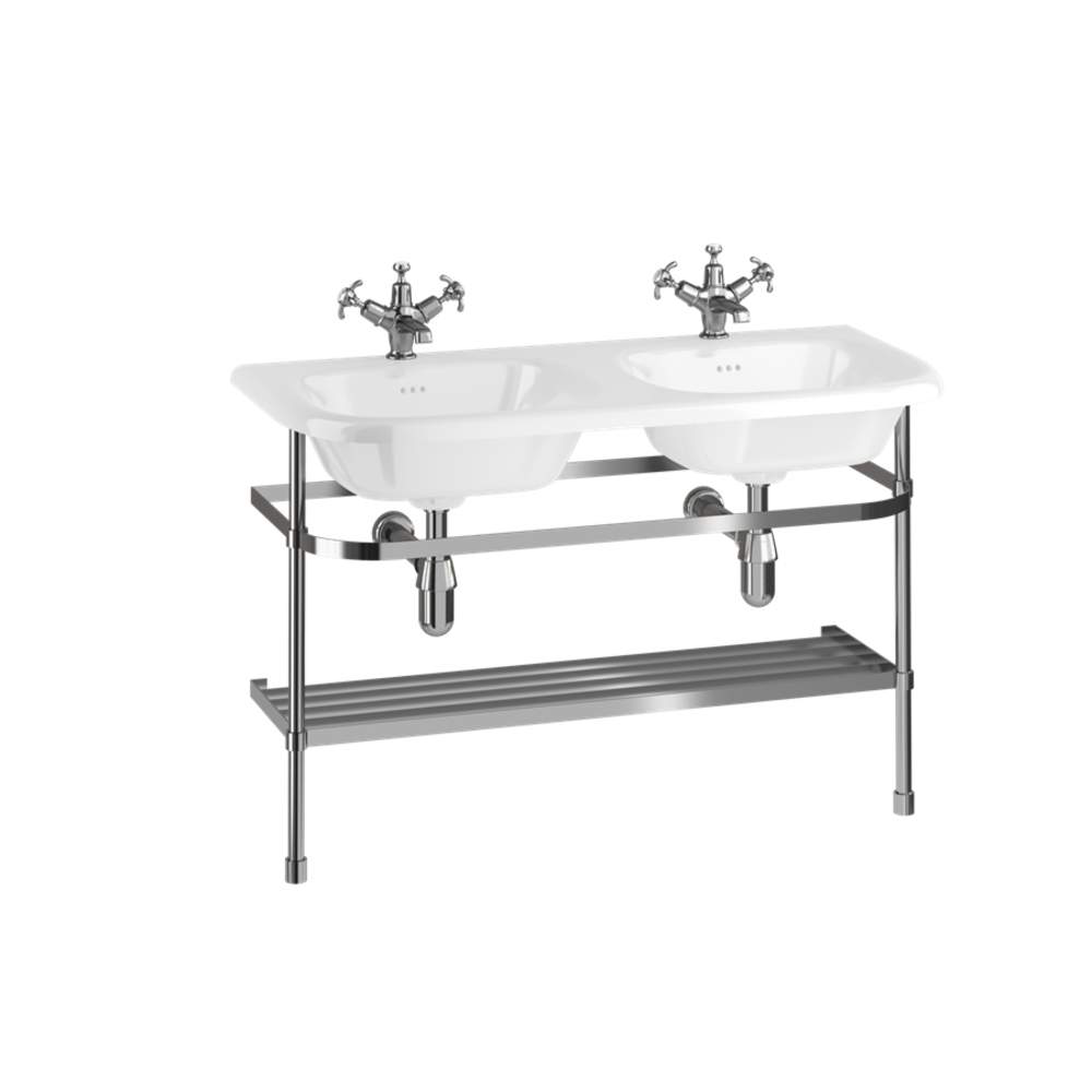 Burlington Traditional Double 100cm basin with stainless steel stand
