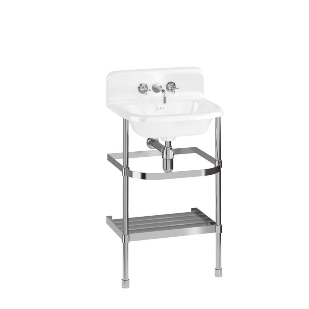 Burlington Traditional small 55cm UPS basin with stainless steel stand