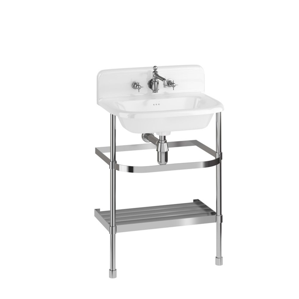 Burlington Traditional medium 65cm UPS basin with stainless steel stand