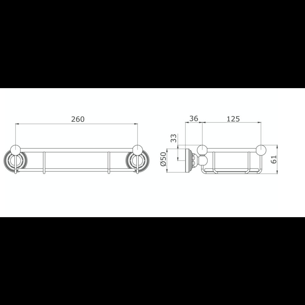 Perrin & Rowe Victorian PR Victorian Planchet glas 260mm