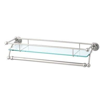 Victorian Glas-Ablage mit Handtuchhalter E.6975