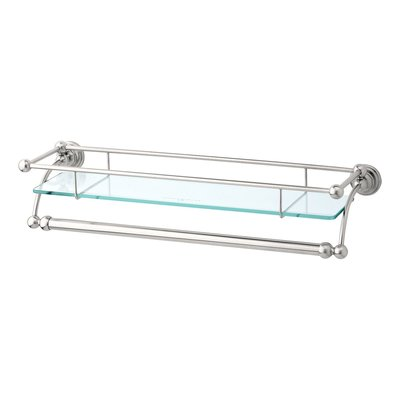 Victorian  glass shelf with towel rail E.6975