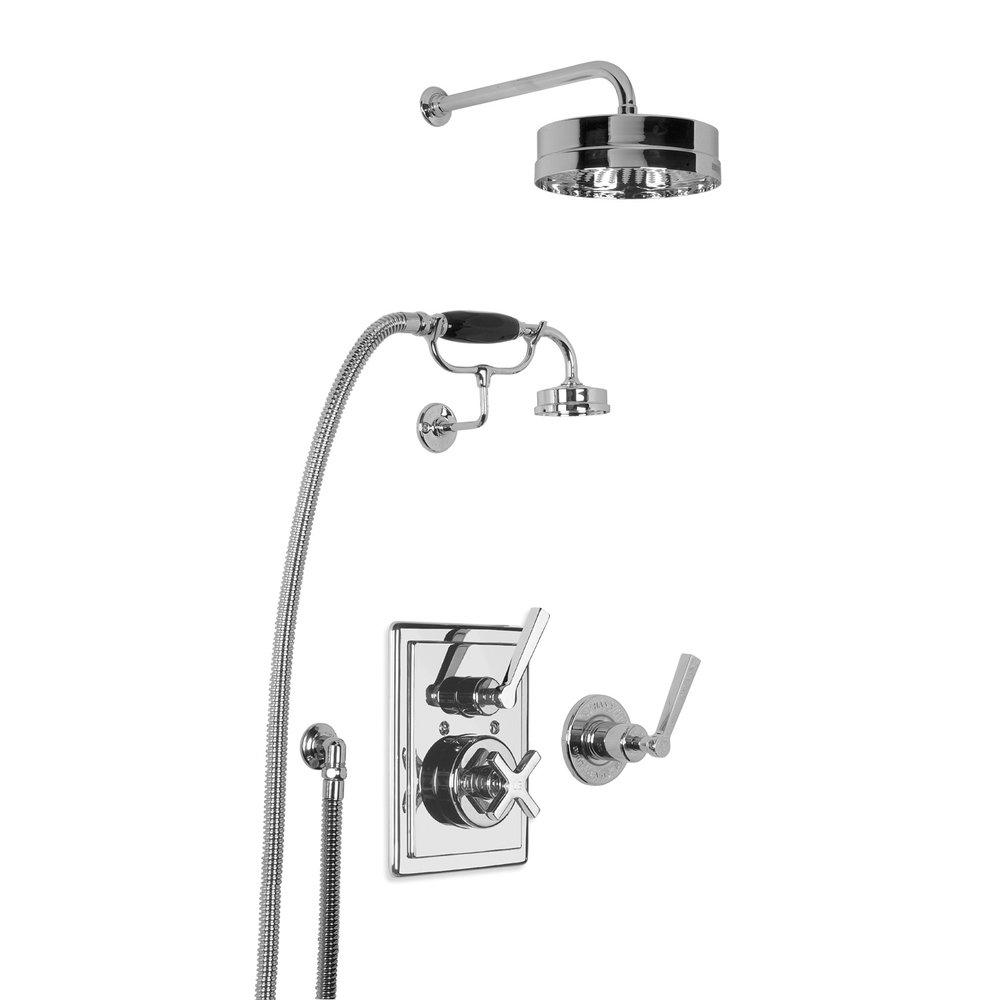 """Lefroy Brooks 1930 Mackintosh LB1930 Mackintosh concealed shower set mit 8"""" rose and hand shower MK-8716"""