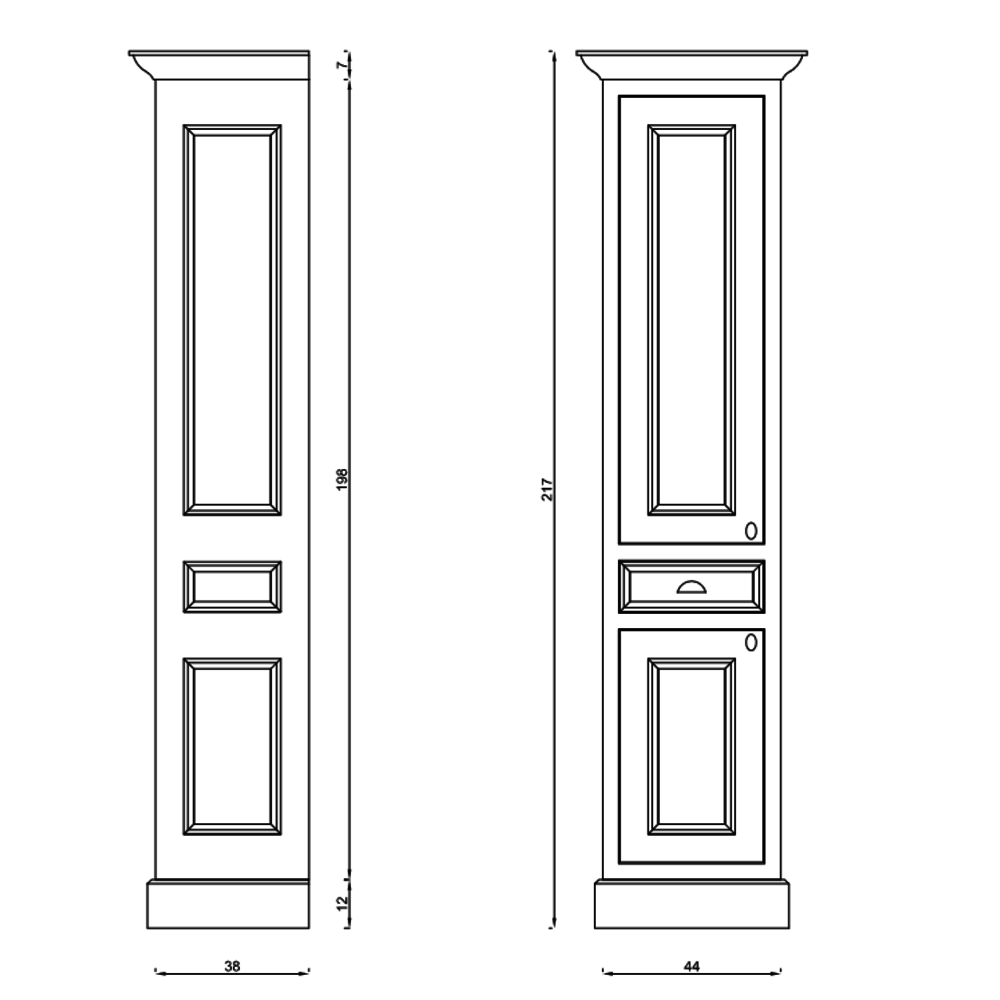 TCH Victorian Victorian tall cabinet KS50