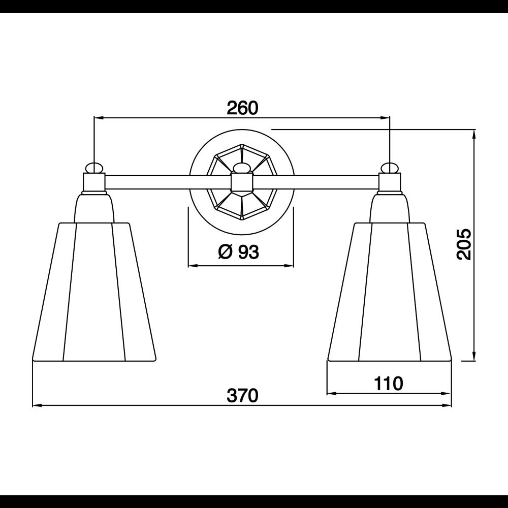 Sbordoni Sbordoni wandlamp Déco Double