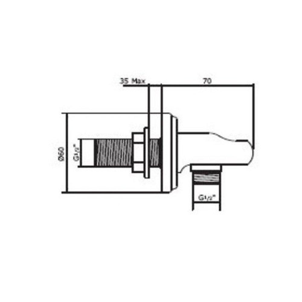 Perrin & Rowe Victorian P&R wandbocht met houder E.5202