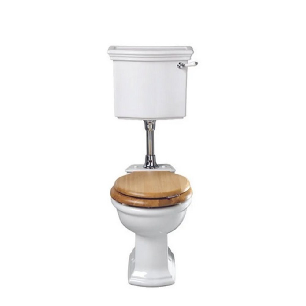 Imperial Bergier low level toilet with cistern - p-trap