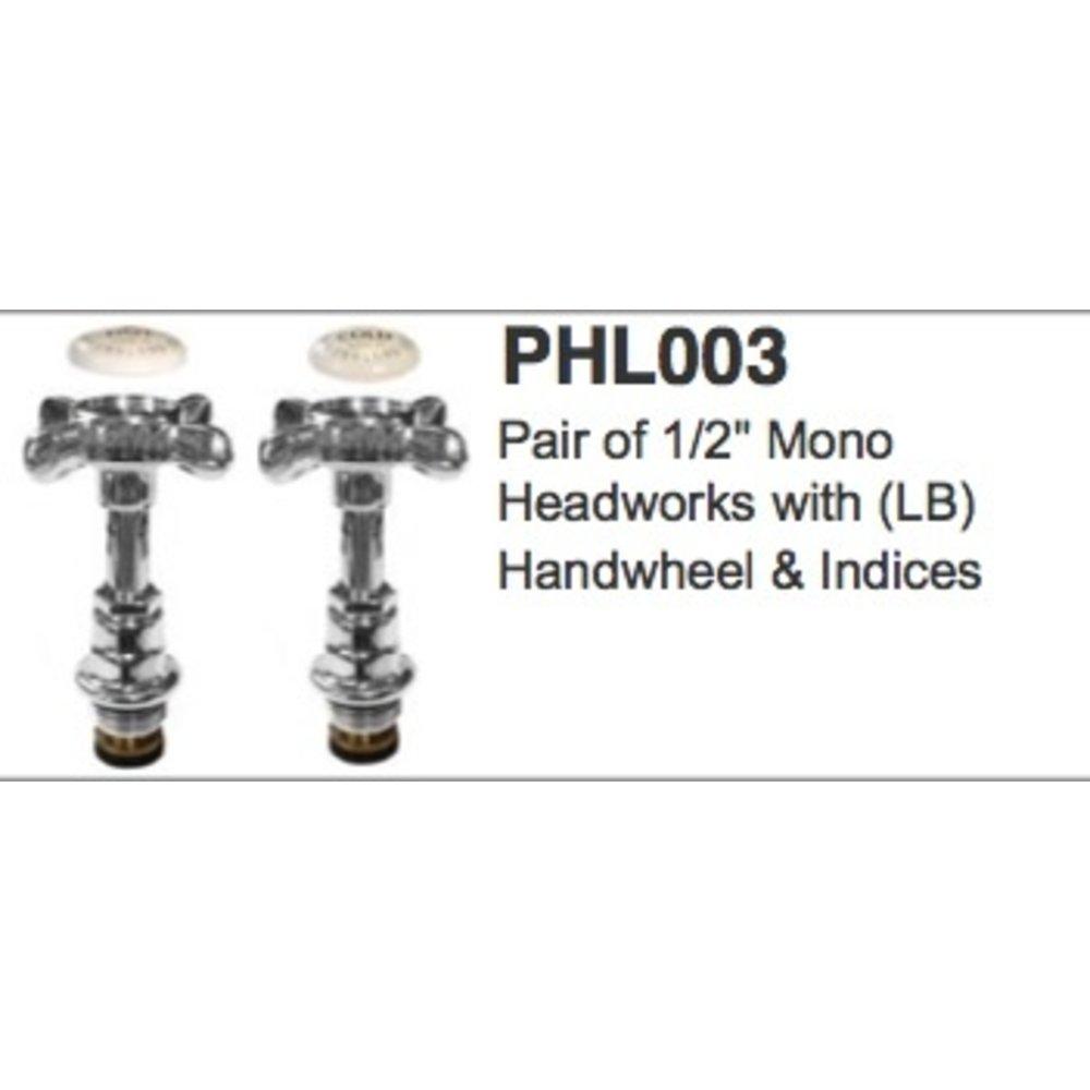 "Lefroy Brooks LB 1/2"" mono headworks - LB  handwheel & indices PHL003"