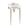 BB Edwardian Classic 51cm basin with metal stand  B20-T52