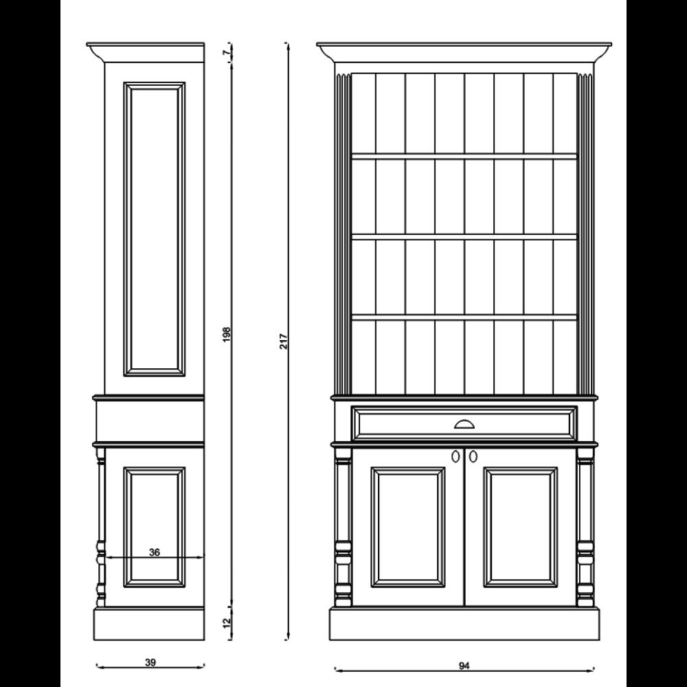 TCH Victorian Victorian tall cabinet K100