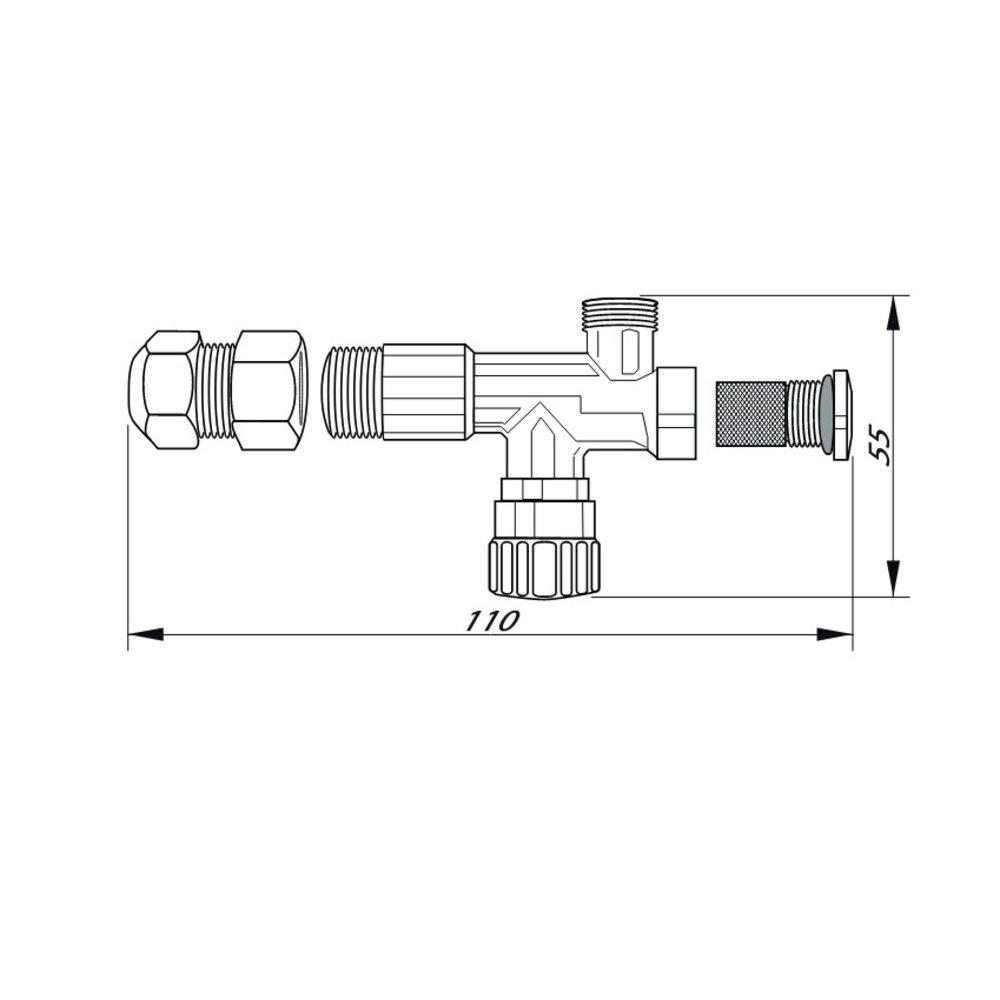 12mm / 15mm universal filter stop valves (1 pair)