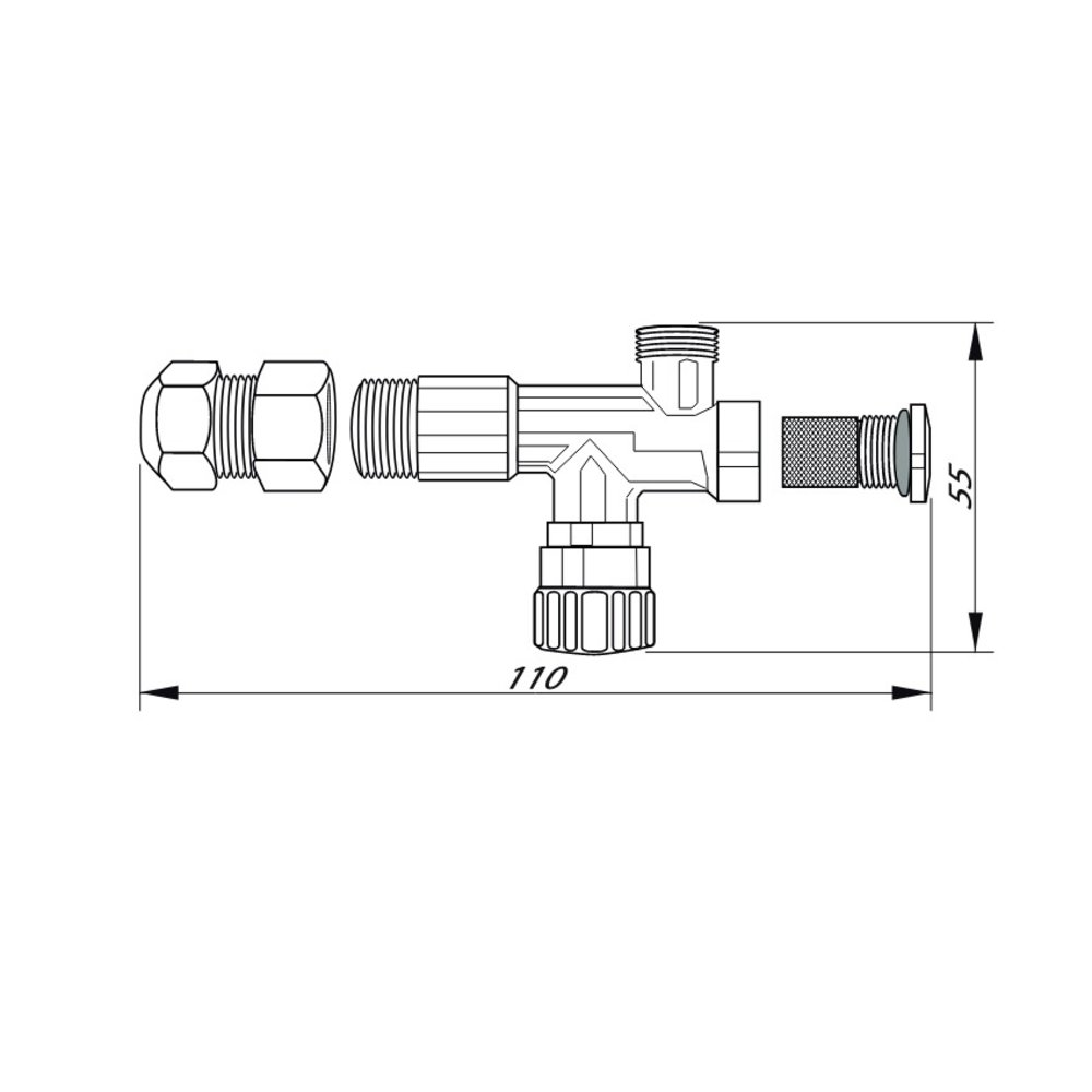 12mm / 15mm universele filterstopkranen (1 paar)