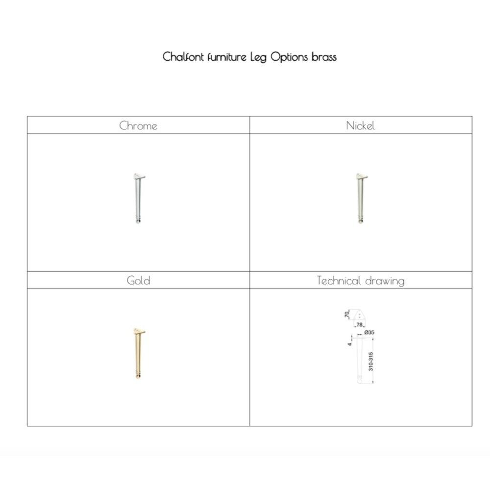 BB Chalfont Chalfont 65cm onderkast met wastafel CH65-B8E