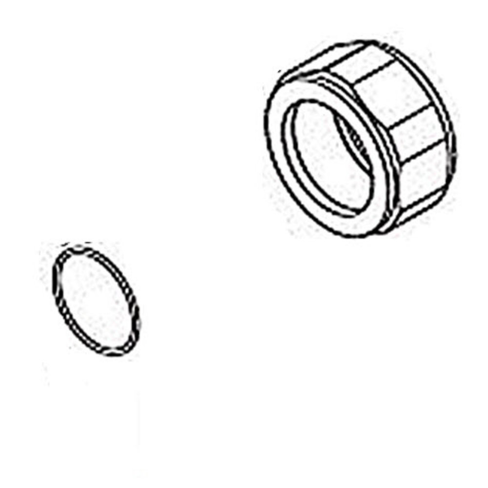 Perrin & Rowe PR thermo shower union cap nut 9.16555