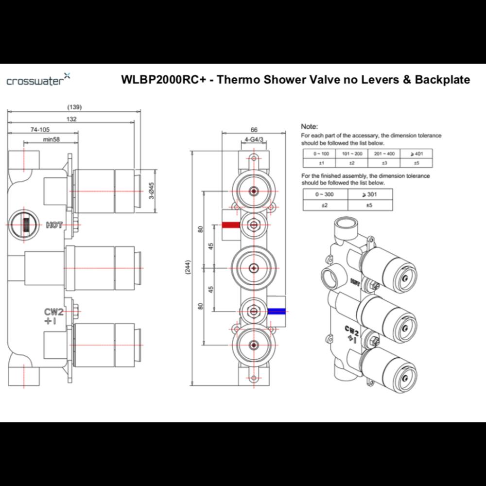 Belgravia Belgravia concealed shower thermo BL2000RC_LV-VS+