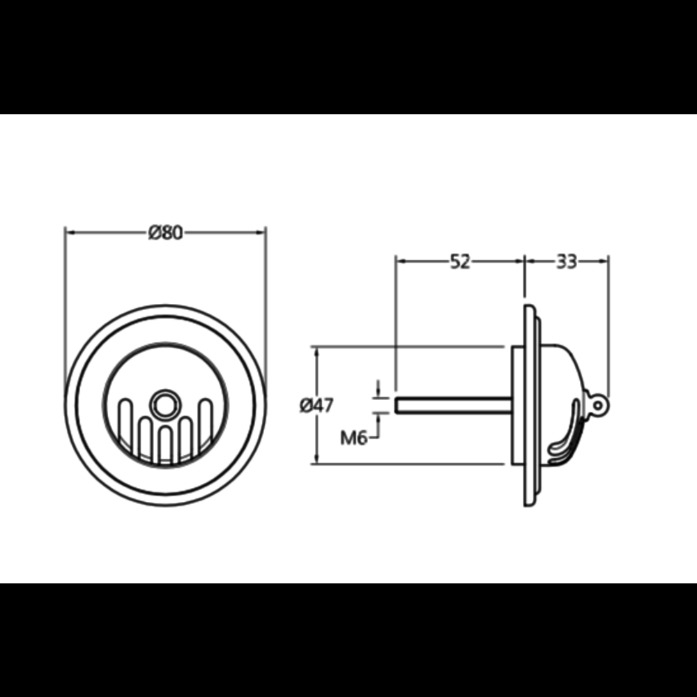 Lefroy Brooks LB grated bath overflow with plug and chain LB-8610/1377