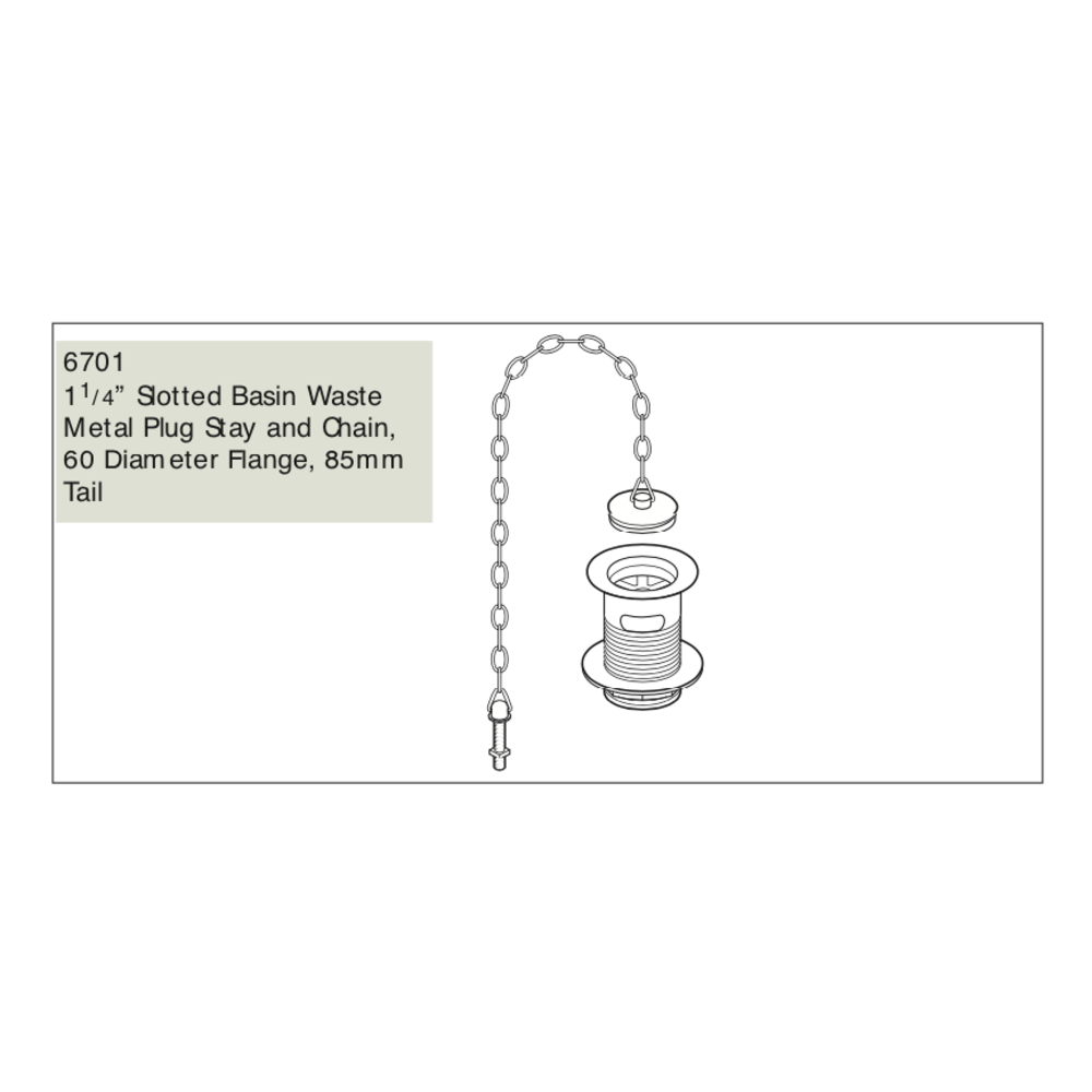 Perrin & Rowe P&R basin waste with plug and chain E.6701