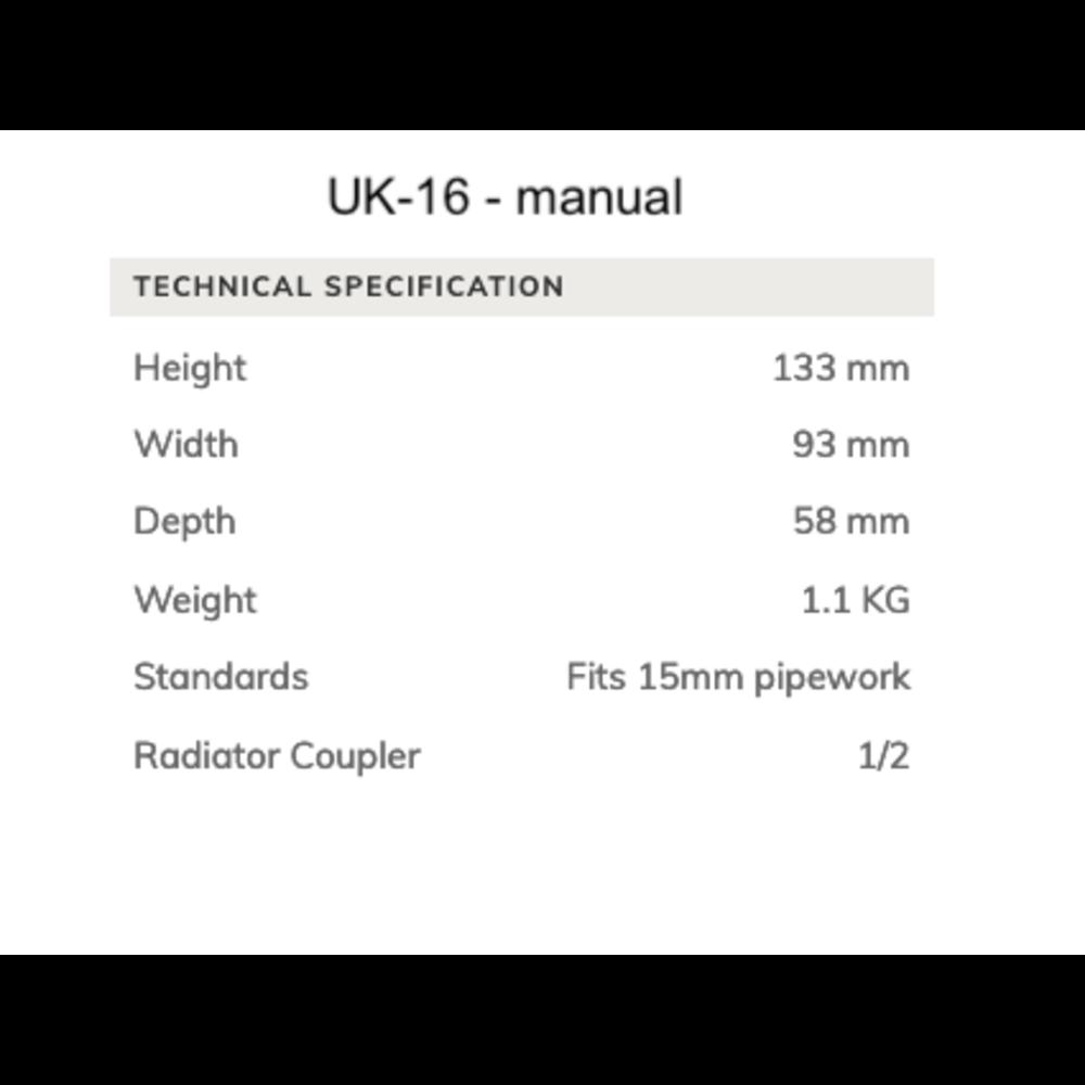 Arroll Manuele radiatorkraan UK-16