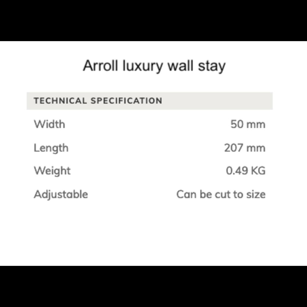 Arroll Luxe wandafstandhouder voor gietijzeren radiatoren