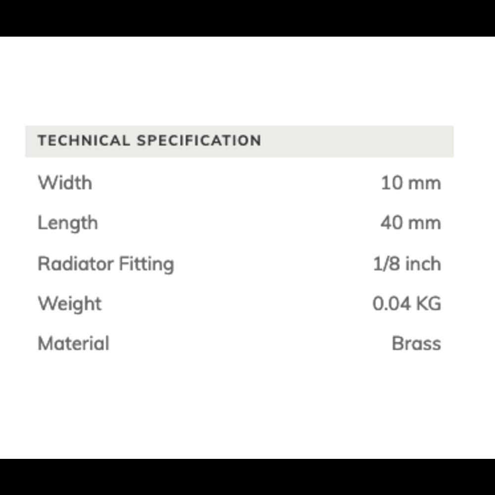 Arroll Bleeder valve for cast iron radiators