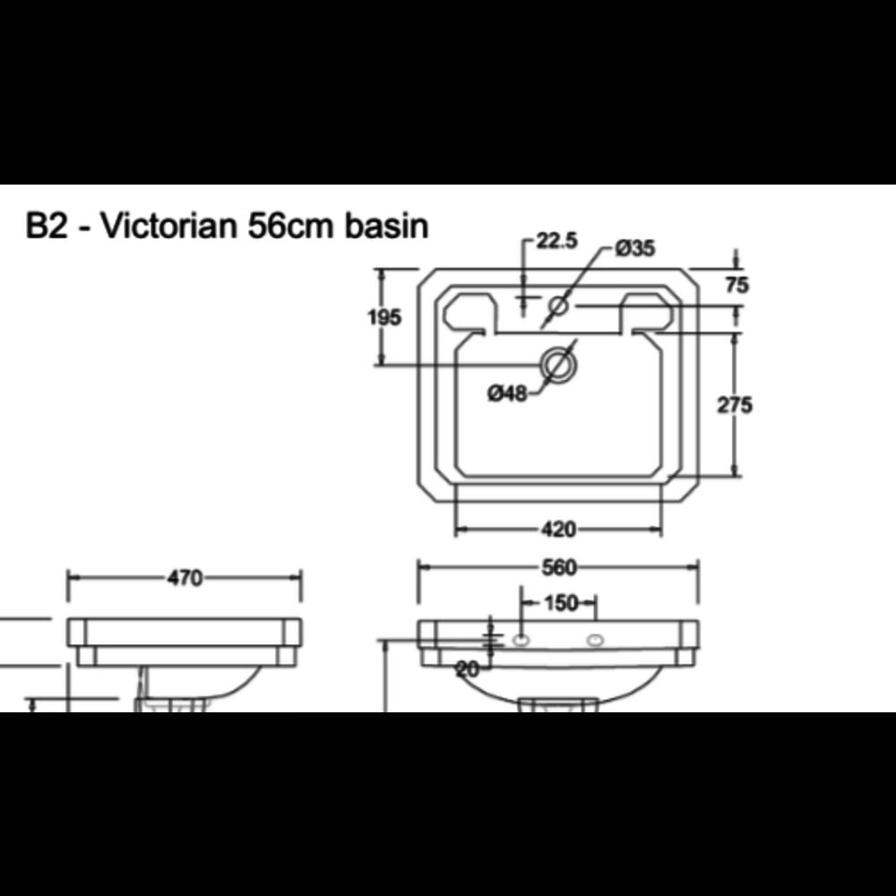 Burlington Victorian 56cm basin