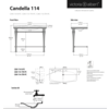 Victoria + Albert V+A Candella 114 basin & washstand with chrome legs CAN-114
