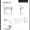 Victoria + Albert V+A Candella 100 basin & washstand with chrome legs CAN-100