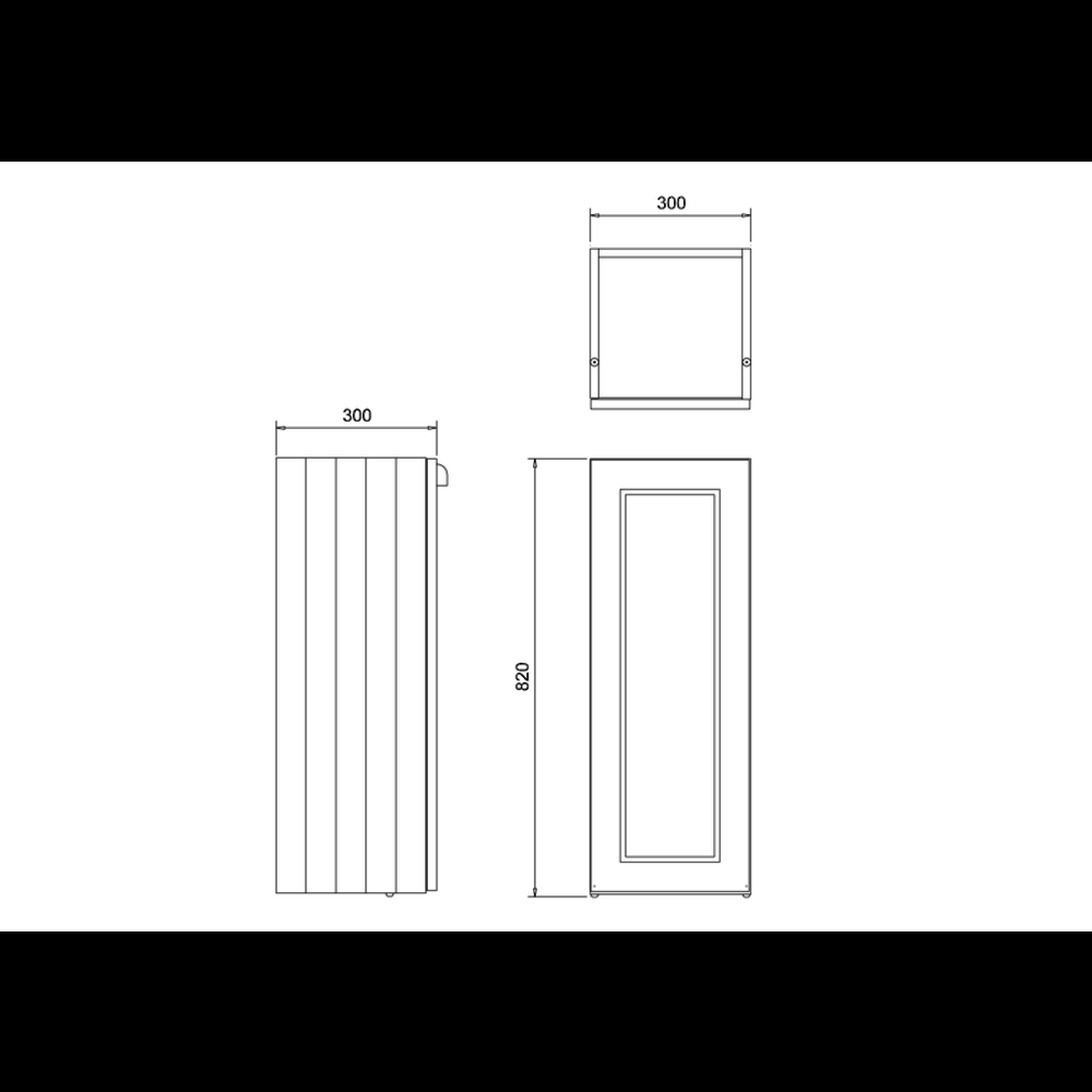 BB Edwardian 30cm base unit with soft close door and glass shelf F30