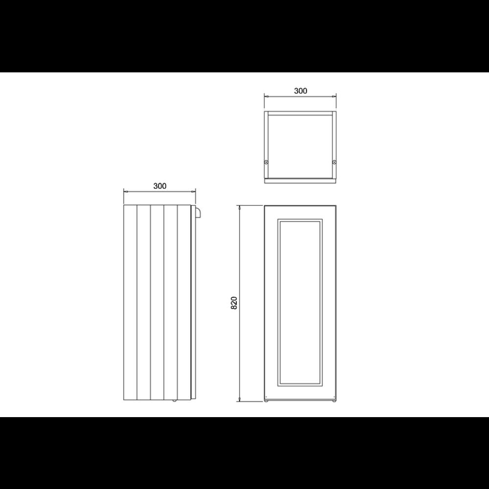 BB Edwardian 30cm onderkast met soft-close deur en planchet F30