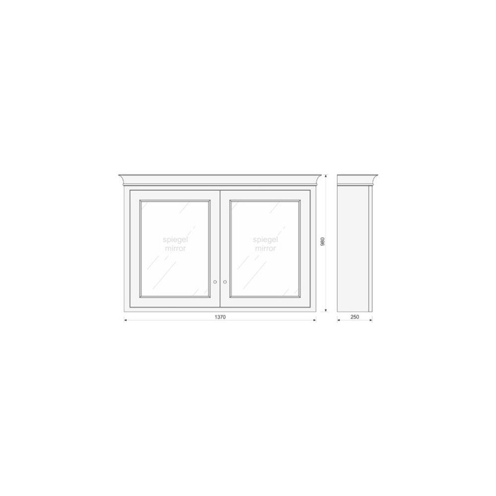 TCH Victorian Bathroom mirror cabinet  Victorian VMC140