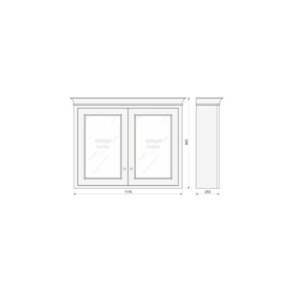 TCH Victorian Bathroom mirror cabinet  Victorian VMC120