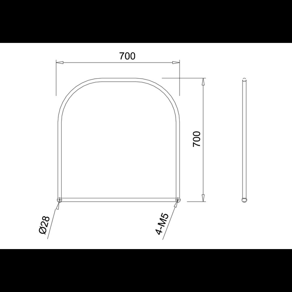 BB Edwardian Edwardian Curved Mirror 70x70cm