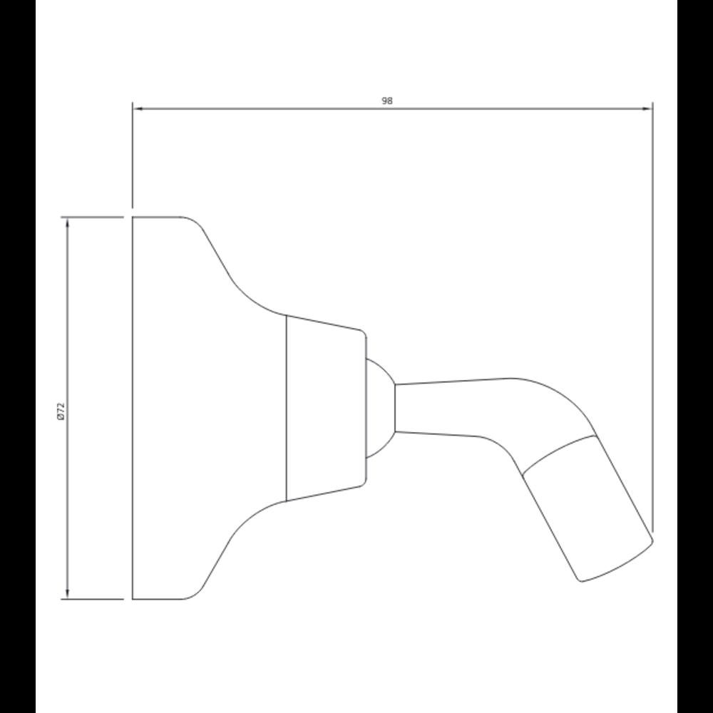 Lefroy Brooks LB Classic  adjustable handshower wall bracket LB-1757