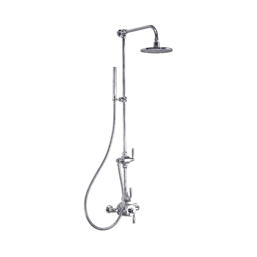 """Perrin & Rowe Langbourn Exposed shower set  with 8"""" shower rose and hand shower E.LSSE"""