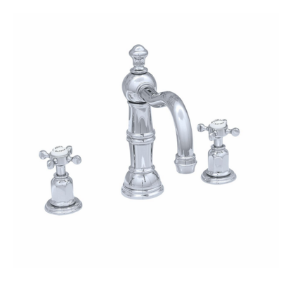 Victorian White 3-hole basin mixer E.3721