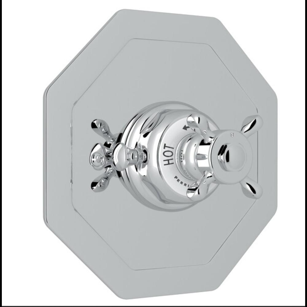 Perrin & Rowe Victorian White Klassieke inbouw douchethermostaat met kruisgreep E.5586