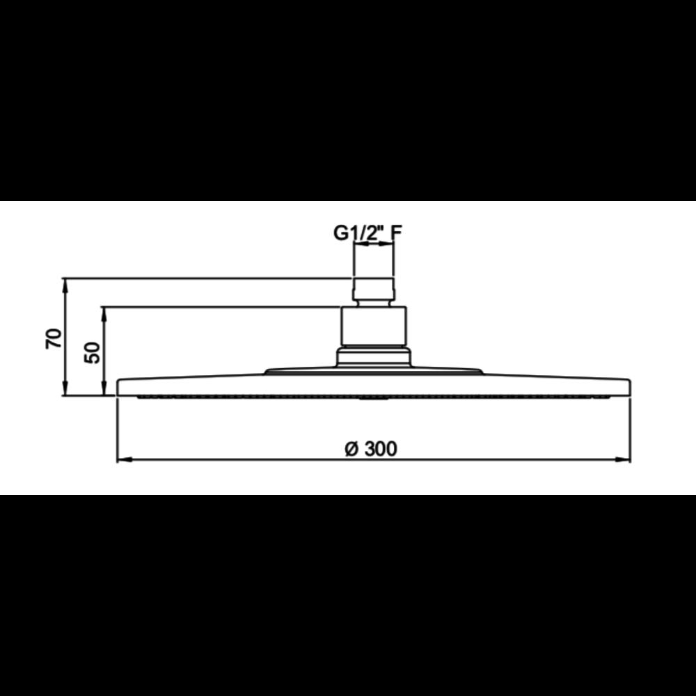 "Perrin & Rowe Langbourn Langbourn  8"" (20cm) / 12"" (30cm) easy-clean discus regendouche"