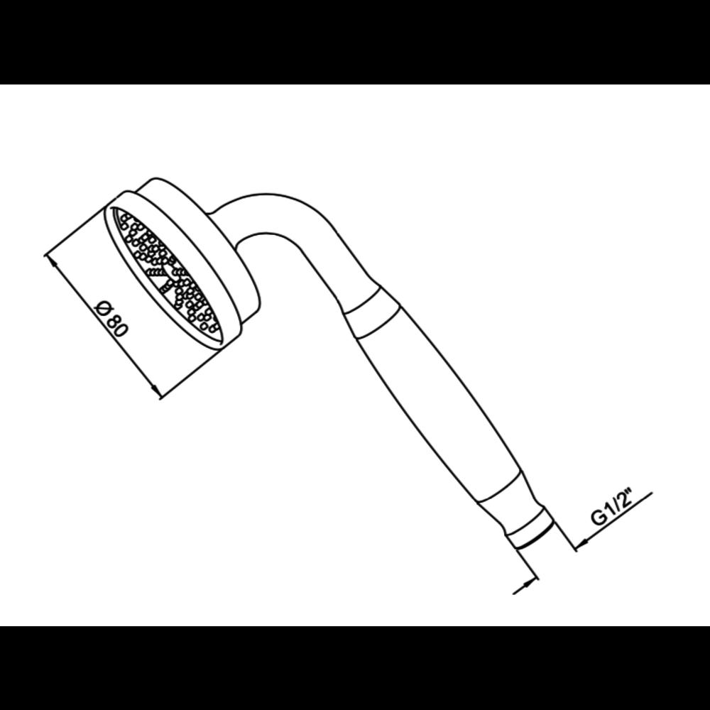 Perrin & Rowe Langbourn Langbourn easy-clean handdouche E.5817