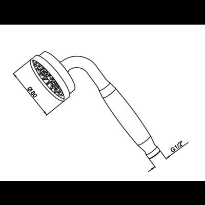 Langbourn easy-clean handshower E5817