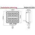 LED Werklamp | 2272 lumen | 9-36v | 40cm. kabel
