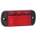 LED Autolamps  LED markeringslicht rood   12-24v   40cm. kabel