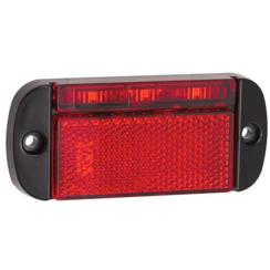 LED markeringslicht rood | 12-24v | 40cm. kabel