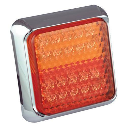 LED Autolamps  LED achterlicht met chromen rand    12-24v   40cm. kabel