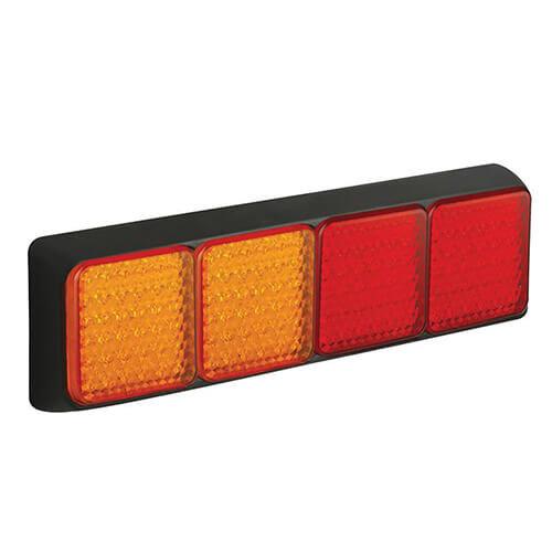 LED Autolamps  LED achterlicht met zwarte rand    12-24v   40cm. kabel
