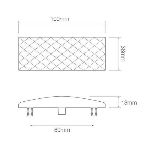 LED Autolamps  LED markeerlicht wit  | 12-24v |  35cm. kabel (smoke)