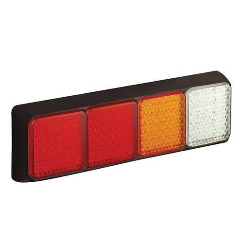 LED Autolamps  LED achterlicht met zwarte rand  | 12-24v | 40cm. kabel